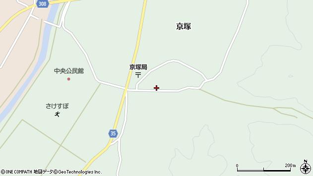山形県最上郡鮭川村京塚1094周辺の地図
