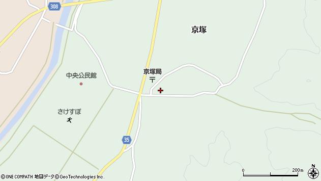 山形県最上郡鮭川村京塚1096周辺の地図