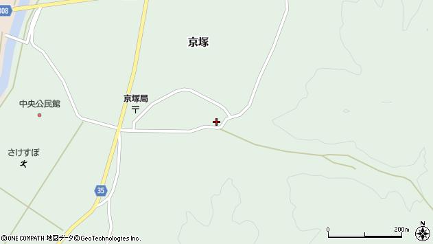 山形県最上郡鮭川村京塚1085周辺の地図