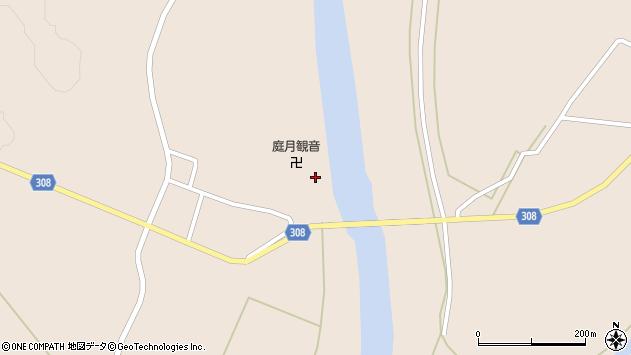 山形県最上郡鮭川村庭月2829周辺の地図