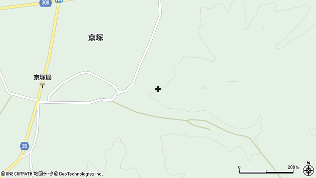 山形県最上郡鮭川村京塚上京塚周辺の地図