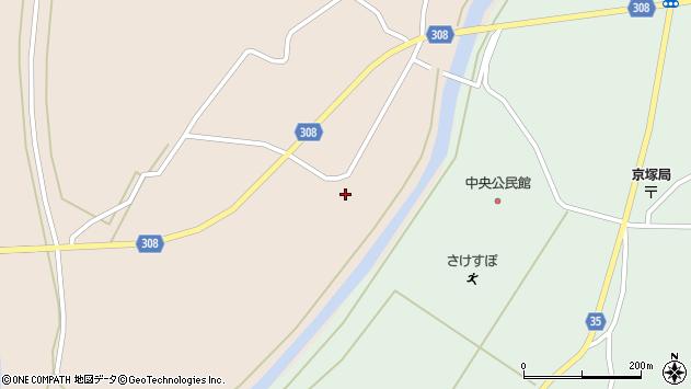 山形県最上郡鮭川村庭月庭月周辺の地図