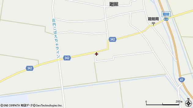 山形県東田川郡庄内町廻館館舎103周辺の地図