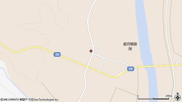 山形県最上郡鮭川村庭月2847周辺の地図