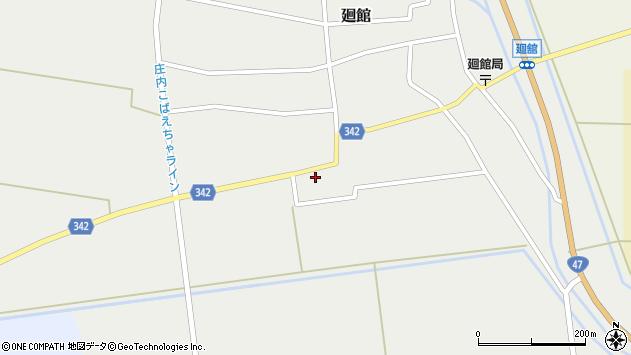 山形県東田川郡庄内町廻館館舎102周辺の地図