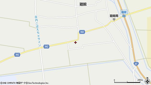 山形県東田川郡庄内町廻館館舎101周辺の地図
