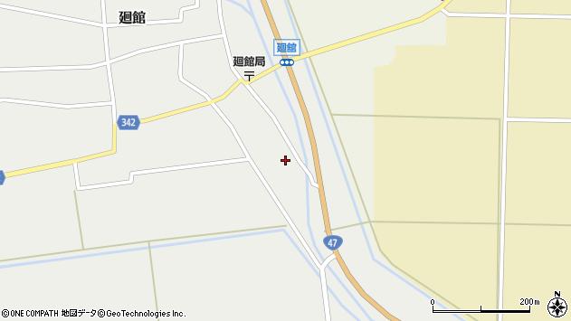 山形県東田川郡庄内町廻館館舎83周辺の地図