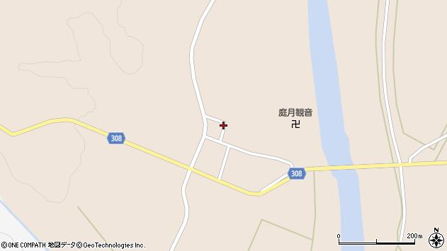 山形県最上郡鮭川村庭月2841周辺の地図