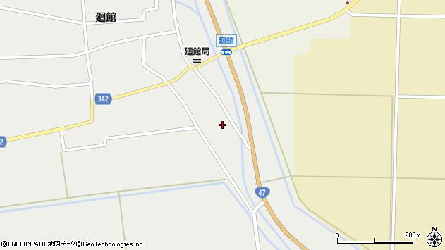 山形県東田川郡庄内町廻館館舎82周辺の地図
