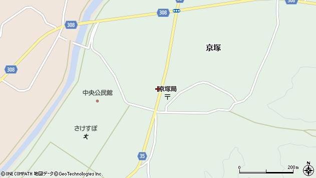山形県最上郡鮭川村京塚1198周辺の地図