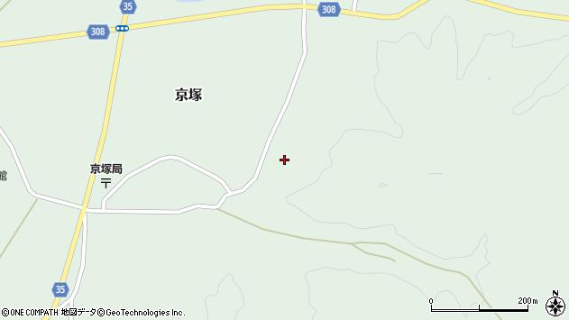 山形県最上郡鮭川村京塚1022周辺の地図