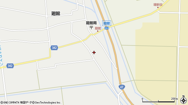 山形県東田川郡庄内町廻館館舎73周辺の地図