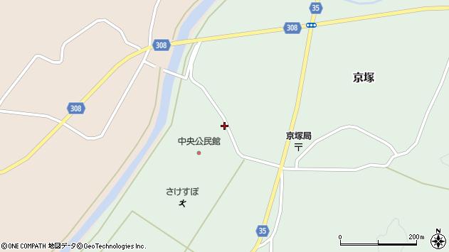 山形県最上郡鮭川村京塚1324周辺の地図