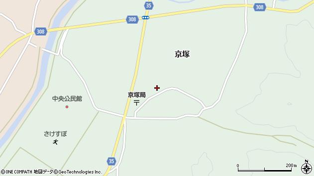 山形県最上郡鮭川村京塚1104周辺の地図