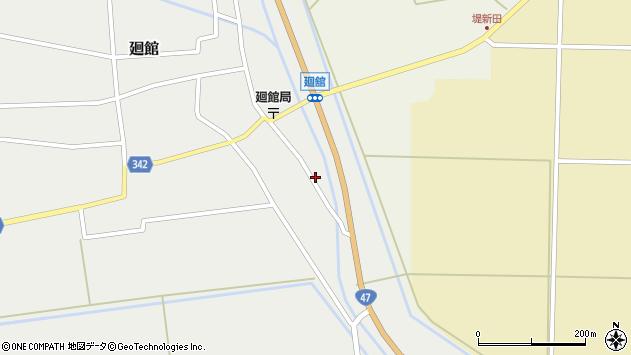 山形県東田川郡庄内町廻館館舎24周辺の地図