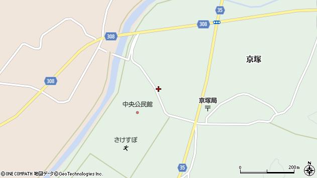 山形県最上郡鮭川村京塚1175周辺の地図