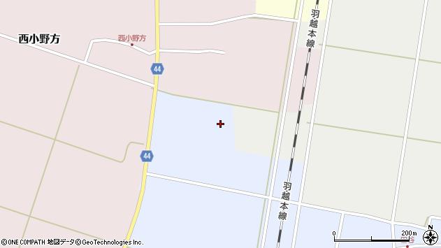 山形県東田川郡庄内町田谷村西周辺の地図