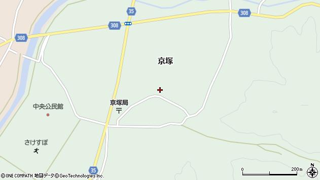 山形県最上郡鮭川村京塚1043周辺の地図