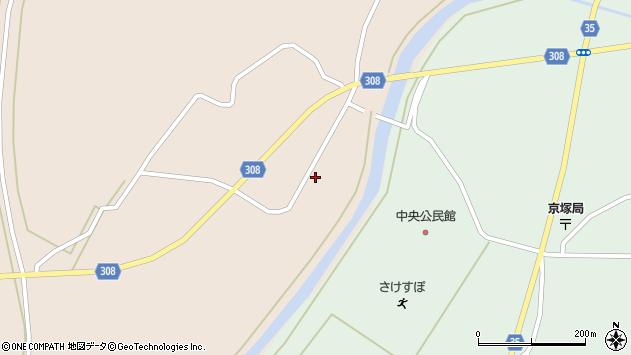 山形県最上郡鮭川村庭月741周辺の地図