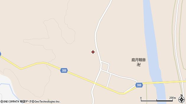 山形県最上郡鮭川村庭月2810周辺の地図
