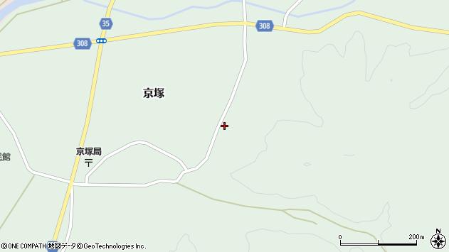 山形県最上郡鮭川村京塚1033周辺の地図