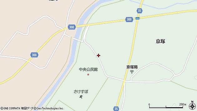 山形県最上郡鮭川村京塚1277周辺の地図