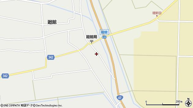 山形県東田川郡庄内町廻館館舎71周辺の地図