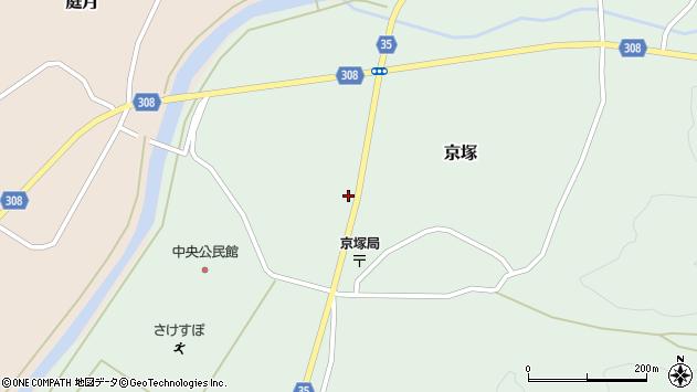 山形県最上郡鮭川村京塚1210周辺の地図