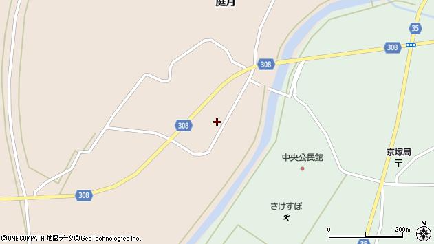 山形県最上郡鮭川村庭月744周辺の地図