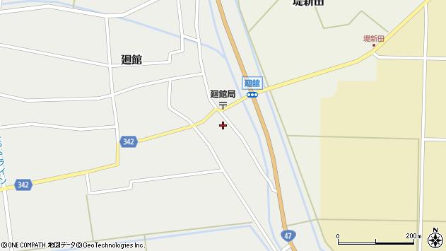 山形県東田川郡庄内町廻館館舎64周辺の地図