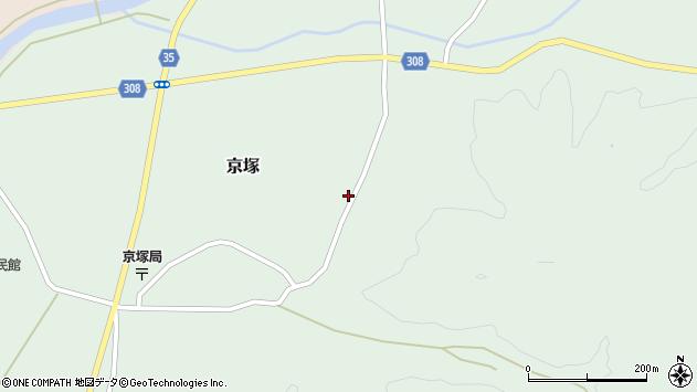 山形県最上郡鮭川村京塚1032周辺の地図
