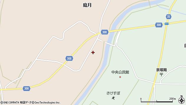 山形県最上郡鮭川村庭月750周辺の地図