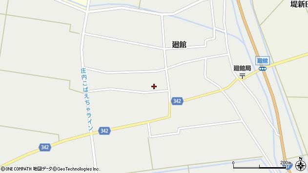 山形県東田川郡庄内町廻館館舎176周辺の地図