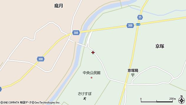 山形県最上郡鮭川村京塚1314周辺の地図