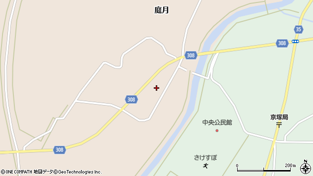 山形県最上郡鮭川村庭月748周辺の地図