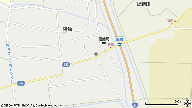 山形県東田川郡庄内町廻館館舎56周辺の地図
