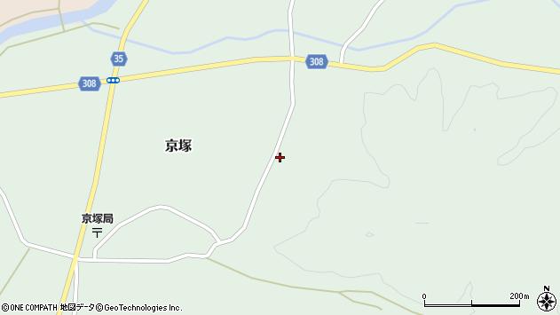 山形県最上郡鮭川村京塚1037周辺の地図