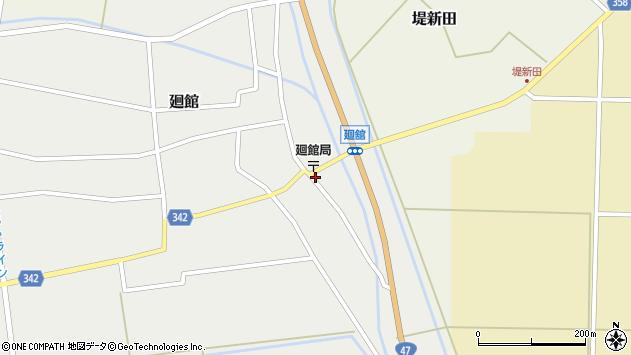 山形県東田川郡庄内町廻館館舎28周辺の地図