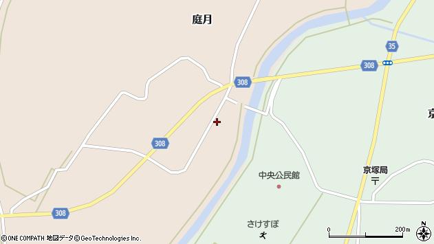山形県最上郡鮭川村庭月751周辺の地図