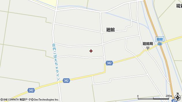 山形県東田川郡庄内町廻館館舎177周辺の地図
