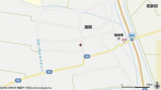 山形県東田川郡庄内町廻館館舎174周辺の地図