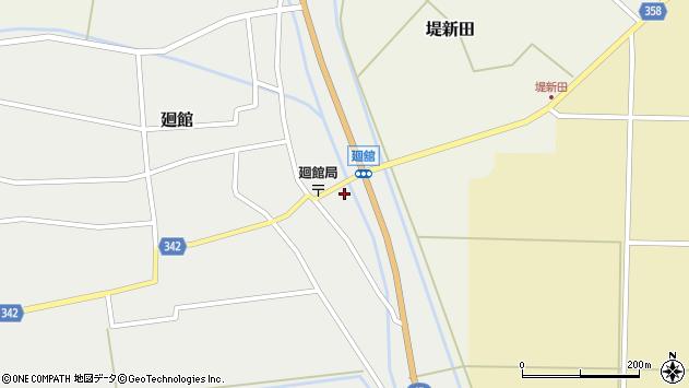 山形県東田川郡庄内町廻館館舎29周辺の地図