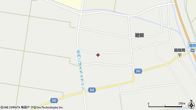 山形県東田川郡庄内町廻館館舎184周辺の地図