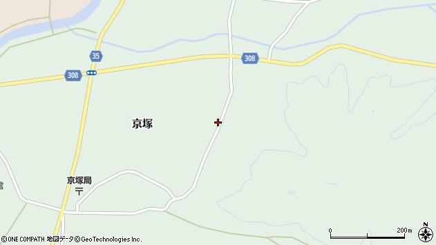 山形県最上郡鮭川村京塚1053周辺の地図