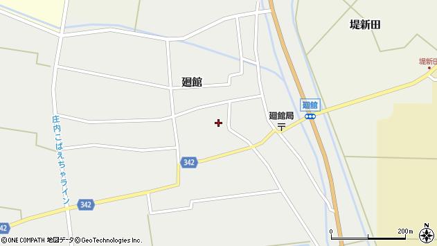 山形県東田川郡庄内町廻館館舎169周辺の地図