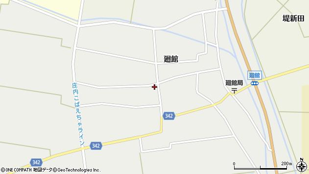 山形県東田川郡庄内町廻館館舎173周辺の地図