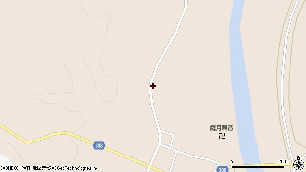山形県最上郡鮭川村庭月2757周辺の地図