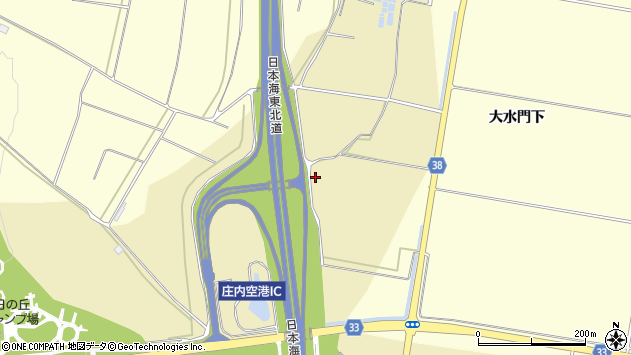 山形県酒田市浜中小林周辺の地図