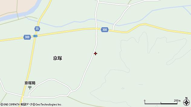 山形県最上郡鮭川村京塚973周辺の地図