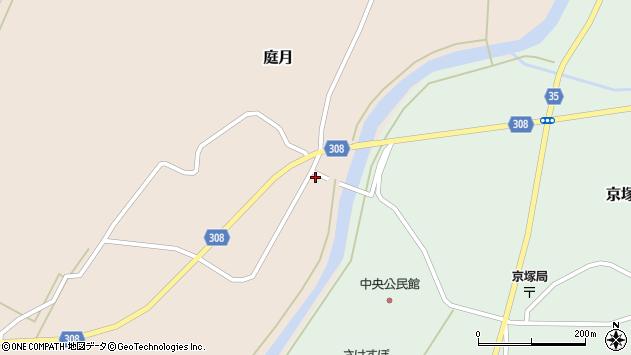 山形県最上郡鮭川村庭月758周辺の地図